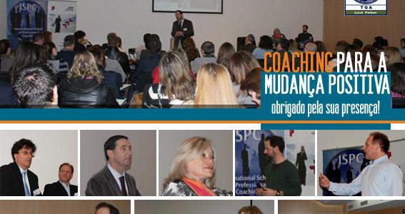 Obrigado aos participantes na Conferência Coaching para a Mudança Positiva